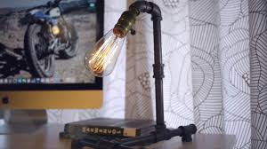 iron piping steampunk urban industrial desk lamp youtube