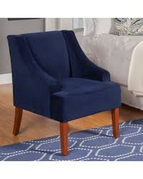 Navy Blue Accent Chair Amazing Cyber Monday Savings On Kinfine Usa Swoop Arm Velvet