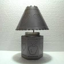 interiors pierced tin candle holder and shade 11184