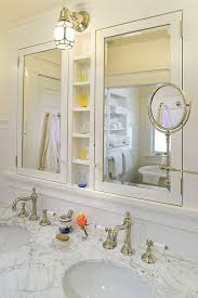 recessed medicine cabinet mirror bathroom traditional with none