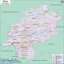 map of germany with states and capitals hesse germany free downloadable map of hessen