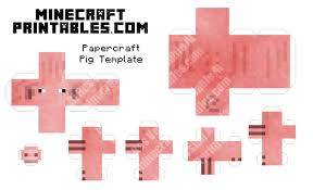 minecraft pig 3d printable minecraft pig papercraft template