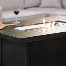 napoleon rectangle propane fire pit table hayneedle