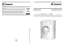 candy washer cmd146 user guide manualsonline com