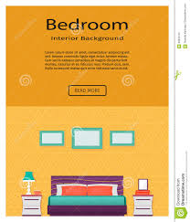 living room bedroom interior with furniture website banner home
