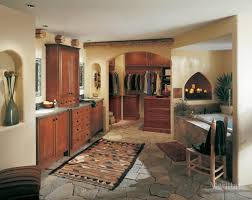 eclectic bathrooms paso kitchen cabinets merillat classicA labelle cherry paprika
