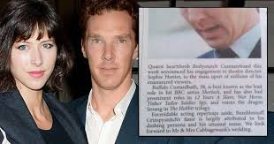 Benedict Cumberbatch Meme - how this australian newspaper announced benedict cumberbatch s