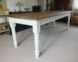 Ft Pine Dining Table With Old Rustic Pine Top And Painted Shabby - Old pine kitchen table