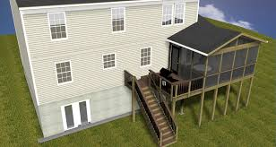 gaithersburge deck and screen porch combinations maryland custom
