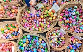 easter egg display popular traditional pisanki painted easter eggs on