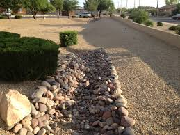 river rock landscaping home design ideas