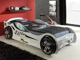 Car Bed Frames Turbo Racer Single White Racing Car Bed Frame
