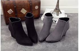 womens boots grey suede shoes high heels ankle boots suede pointed toe grey boots