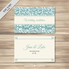turquoise elegant wedding card template vector free download