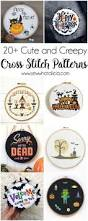 scary halloween lettering 20 cute and creepy halloween patterns to cross stitch sew what