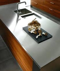plan de travail cuisine inox sur mesure design d intérieur plan de travail inox sur mesure mixte