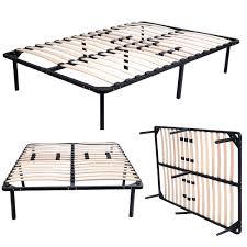 Metal Bed Frame With Wooden Slats Wood Slats Metal Bed Frame Platform Bedroom Mattress Foundation 5