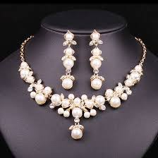 earring necklace sets wedding images Trendy indian jewelry set wedding bridal accessories gold color jpg