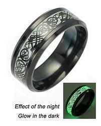 rings of men black celtic rings for men women stainless steel luminou