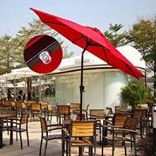 Lighted Patio Umbrella Solar Ollieroo Outdoor Solar Powered 32 Led Lighted Patio