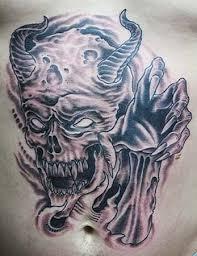 evil skull tattoos elaxsir