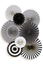 white paper fans black white party decorations mme party fans collection photo