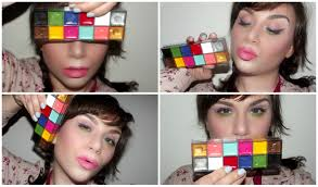 one brand make up tutorial u0026 review mufe flash palette dupe