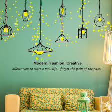 aliexpress com buy pvc hanging light wall stickers living room