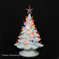 ceramic christmas trees all white of pearl ceramic christmas tree 16 in multi color