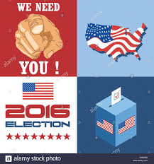2016 Election Map Usa 2016 Election Card With Country Map Vote Box And We Need You