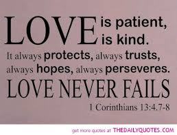 wedding quotes is patient bible quote is the strongest emotion there is so is