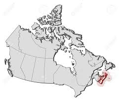 Map Of Nova Scotia Map Of Canada With The Provinces Nova Scotia Is Highlighted