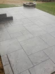 Textured Concrete Patio by Dublin Ohio Stamped Concrete Patio Project Custom Concrete Plus