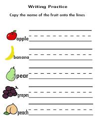 free worksheets writing activities for preschoolers printable