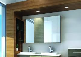 Bathroom Mirror With Storage Bathroom Mirror Cabinets With Battery Operated Lights Some Ideas