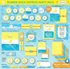 theme duck baby shower invitations