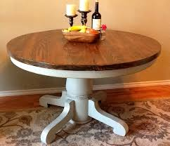 Distressed Pedestal Dining Table Vintage Pedestal Table Base Painted Pale Gray Lightly