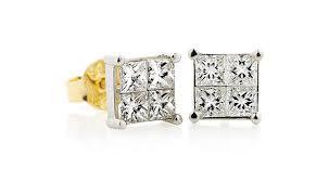 illusion earrings diamond diamond studs earrings from holloway diamonds