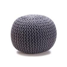 Knitted Ottoman Knitted Ottoman Charcoal Kmart Kmart Curate