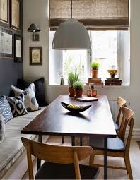 bench seating and dining table traditional room regarding