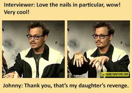 Johnny Depp Meme - johnny depp and his sparkly nails the meta picture