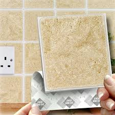 Stick On Wall 18 White Effect Wall Tiles 2mm Thick And Solid Self Adhesive