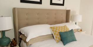How To Tuft A Headboard by Help Your Bedroom Take Flight With A Diy Wingback Headboard For