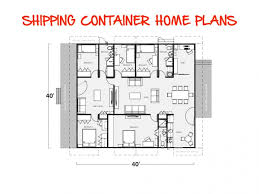 Housing Blueprints by Shipping Container Homes Design Cargo Container House Plans
