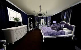 Black And Silver Bedroom by Purple Black And White Bedroom Home Design Ideas