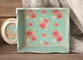 Shabby Chic Jewelry Display by Wood Tray Wood Serving Tray Shabby Chic Tray French Country
