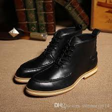 2016 british classic dress boots men leather oxfords shoes winter