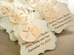beachy wedding favors wedding favor tags for bags starfish sand dollar 48 tags