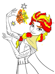 Elsa The Snow Queen Making Snowflakes Coloring Page Download Coloring Pages For 10 Year Olds