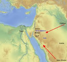 where was the land of uz bible reading archeology